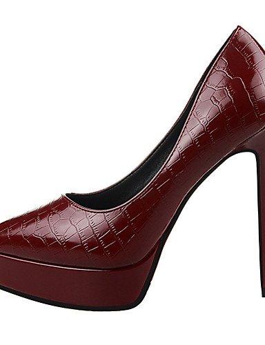 WSS 2016 Chaussures Femme-Extérieure / Bureau & Travail / Soirée & Evénement-Noir / Rose / Rouge / Argent / Gris / Bordeaux-Talon Aiguille-Talons pink-us5 / eu35 / uk3 / cn34