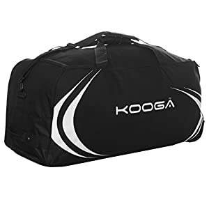 KooGa Essential Wheeled Holdall Black Rugby Sports Kit Bag Gymbag Carryall from KooGa