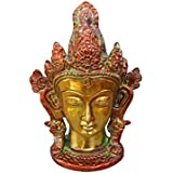 Tiedribbons Crown Tara Head Murti Showpiece Figurine (15.5 Cm X 8.5 Cm, MultiColor, Brass ) Weight : 995 GR | Show Piece For Living Room | Home Decor Accessories Living Room | Decorative Items For Living Room | House Warming Return Gifts