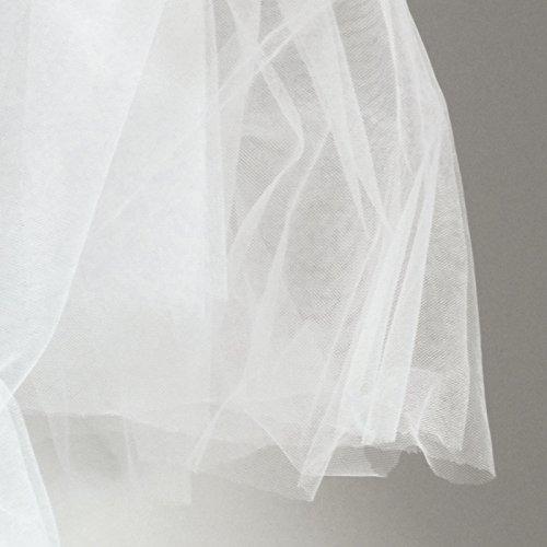Super feine weiß Weiche Illusion Tüll Stoff 150cm breit-sehr filigrane veiling Stoff-Meterware-Abschlussball, Unterrock, Schleier -