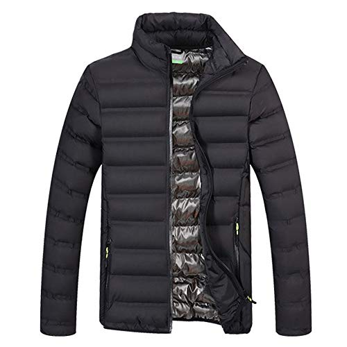OHQ Herren Ultra Light Daunen Jacke Steppjacke mit Kapuze Outdoor Winterparka