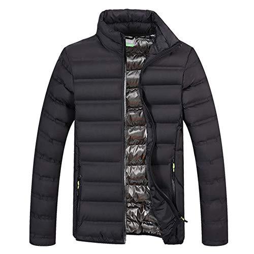 OHQ Herren Ultra Light Daunen Jacke Steppjacke mit Kapuze Outdoor Winterparka
