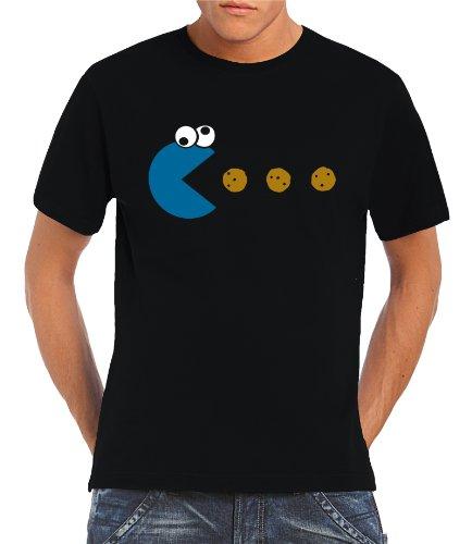 touchlines-herren-t-shirt-cookie-pacman-black-l-b1841-black-l
