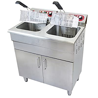 Beeketal Bsf Serie Profi Gastro Stand Fritteuse Mit Unterschrank Edelstahl Friteuse Mit Thermostat 50 200 C Schnelle Aufheizung