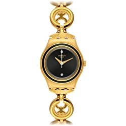 Swatch YSG130G - Reloj, correa de acero inoxidable color dorado