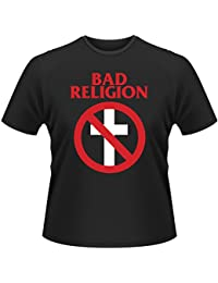 Bad Religion Cross Bust Rock Punk oficial Camiseta para hombre