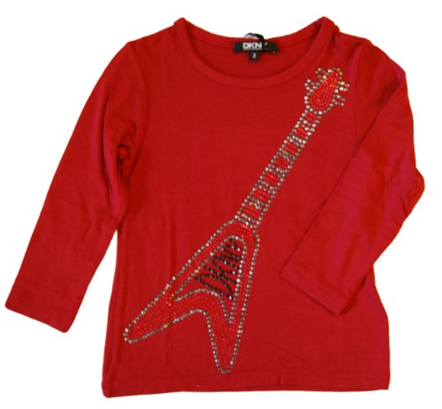 dkny-girls-trendy-t-shirt-top-long-sleeves-colour-red-age-2-years
