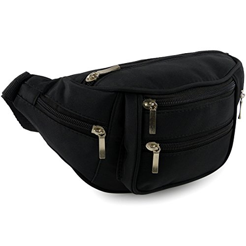 41nBn2STNGL. SS500  - Quality Bum Bag with 6 Zipped compartment