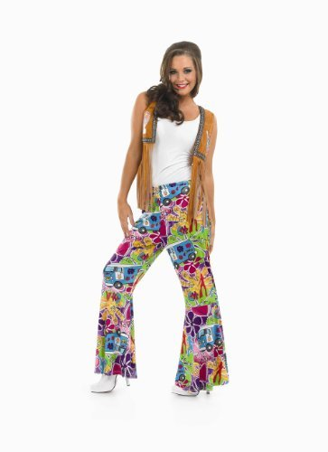 HIPPIE PATTERNED FLARES Adult Fancy Dress Costume All ()