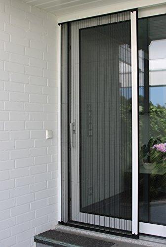 Insektenschutzplissee für Türen, Insektengitter, Fliegengitter, Fliegenschutz - Größen von B: 950-1900 mm bis H: 1941-2440 mm - Hochwertig, Made in Germany