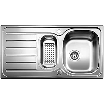 Blanco Lanis 6 S Küchenspüle, Edelstahl Bürstfinish