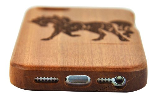 eimo Unique Handmade Natural Wood Hard Cover Case en bois pour iPhone 5 5S (érable pissenlit) sapelli-coursier