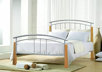 Bedzonline Tetras 3ft Metal Bed Silver produced by Bedzonline LTD - quick delivery from UK.