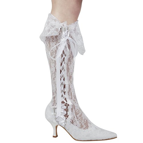 elegantpark-mb-081-women-closed-toe-stiletto-heels-lace-boots-ribbons-evening-party-bridal-court-sho