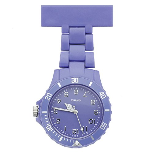 JSDDE-Womens-Girls-Fashion-Nurse-Clip-on-Fob-Brooch-Lapel-Hanging-Pocket-Watch-Purple