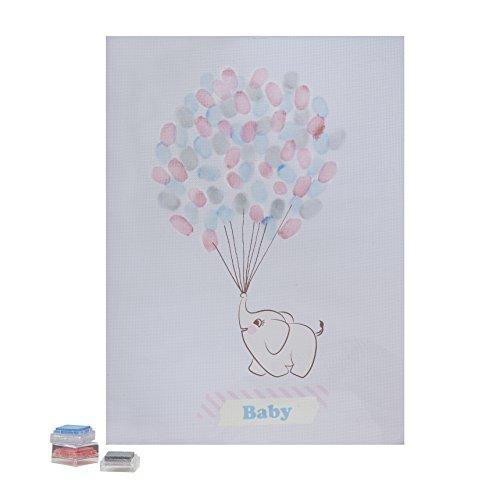 Ginger Ray Baby Elephant Finger Print Andenken Gästebuch - Kleine