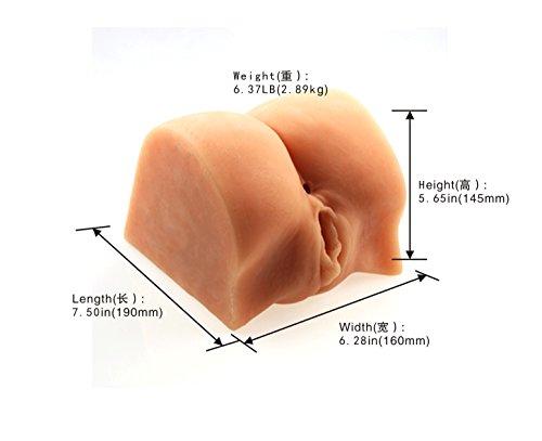 3D Realistische Masturbatoren Pussy und Ass mit Vibration Egg für Männer,TPE Material Masturbator mit Vagina und Anus