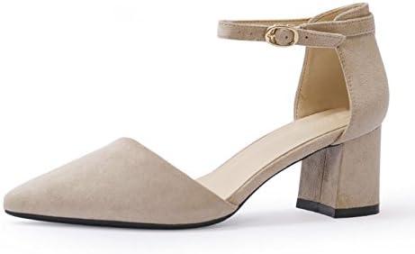Jqdyl Tacones Zapatos de mujer de primavera nueva Zapatos de mujer de tacones altos salvaje palabra Hebilla con...
