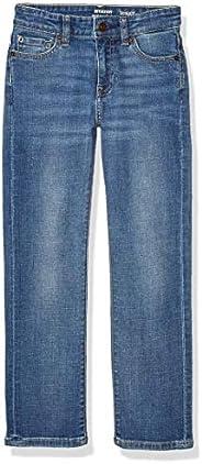 Amazon Essentials Boys' Slim-Fit Jeans, Doppler/Light Wash,
