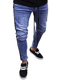 Zilosconcy Hombres Pantalones,antalones Vaqueros Rotos Hombre Jeans Pantalones Elásticos Skinny Slim Fit Delgados Pantalones