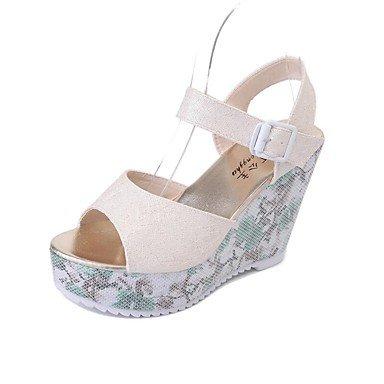 Scarpe Donna Donne Sandali Primavera Estate Autunno Club Shoes Pu Ufficio esterno e carriera casuale che cammina Qstream US5 / EU35 / UK3 / CN34