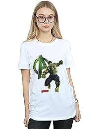Marvel Mujer Hulk Pose Camiseta del Novio Fit