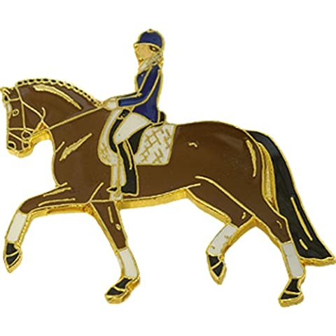 Blue Bug Lapel Pin Badge-Spilla, cavalli, Dressage Rider