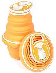 Botella de agua plegable HYDAWAY 21 oz, mandarina