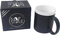 Idea Regalo - My Custom Style Tazza Lavagna Ceramica Ardesia Bordo Bianco + gessetto