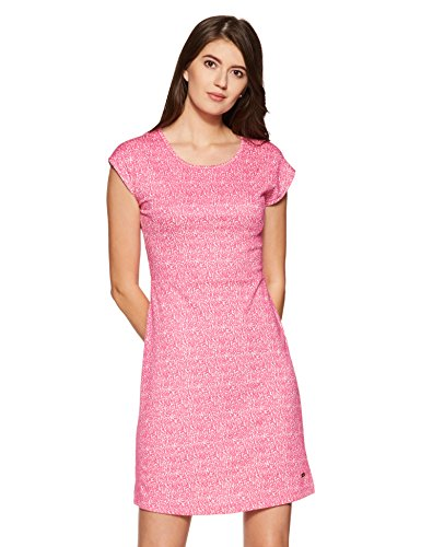 Park Avenue Woman Cotton Tunic Dress (PWEB00441-R6_Dark Red_91)