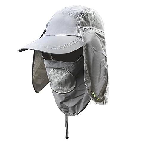 Chapeau de Soleil Anti-UV Protège-nuque Pêche 360 ° Protection Multifonctionnel Eté Unisexe