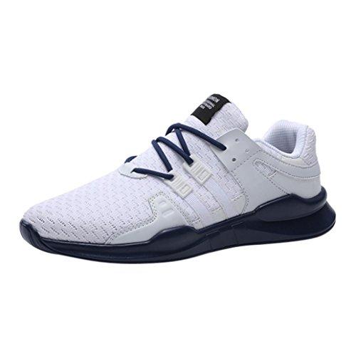 FNKDOR Sneaker Herren Sportschuhe Laufschuhe Sport Fitness Atmungsaktiv Turnschuhe(EU:44 (CN:46),Blau)