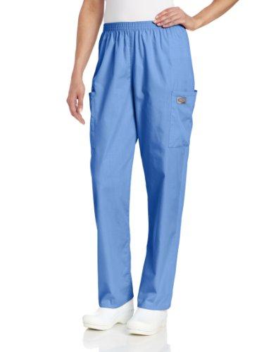 Landau Scrub Zone Damen Cargo-Pflegehose mit 2 Taschen, elastischer Taille, klassischer Passform, strapazierfähig - Blau - X-Groß