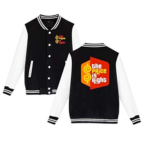 UfashionU Herren The ptice is Right Uniform Varsity Baseball Jacke Mantel für Jugendliche Mädchen Jungen Damen Herren Premium Jacken S -