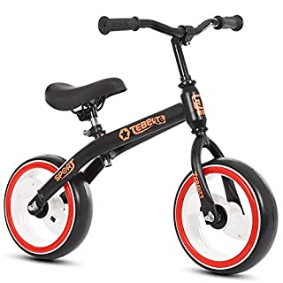 XUE Balance Bike, Adjustable Balance Bike with Low Frame for Todler 2-6 Years Old Training Bike with Air-Free Tire for Child for Kids and Toddlers Bike,Black