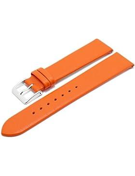 Meyhofer EASY-CLICK Uhrenarmband Donau 16mm orange Leder glatt ohne Naht Made in Germany My2gfml4002