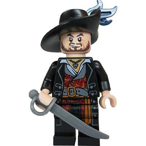 LEGO Piratas del Caribe - Figura de Héctor Barbossa con sable y copa dorada