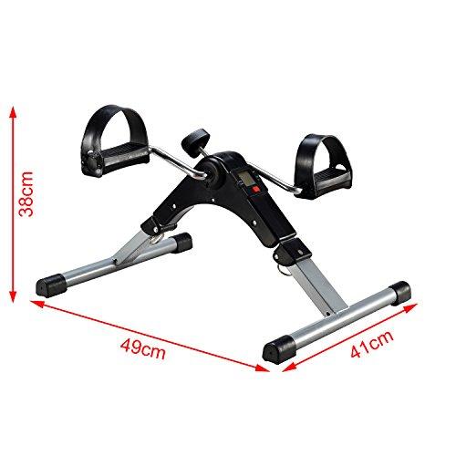0c47657a9 EXEFIT Mini Monitor LCD Bicicleta de ejercicio mini pedal del pedal de  bicicleta estática para la recuperación de brazos y piernas,con alfombra ...