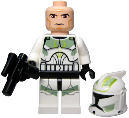 LEGO STAR WARS - Minifigur Clone Trooper Clone Wars mit Sand Green Markings aus 7913 mit ()