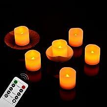 Gr4tec® 6x Velas led Velas de te Velas Decorativas con Mando a Distancia sin Llama Recargable de Cera Real Seguro y Porteger Medio Ambiente