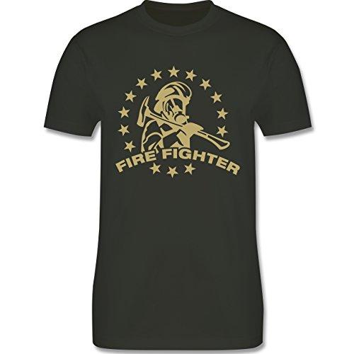 Feuerwehr - Fire Fighter - Herren Premium T-Shirt Army Grün