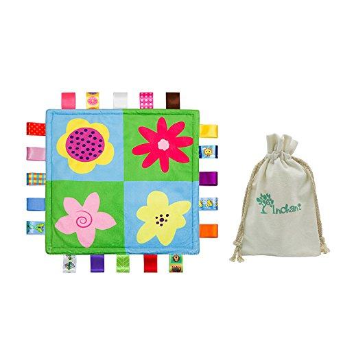 INCHANT Bunte Bänder Sicherheit Blanket Baby-Tag Soothing Decke Tröster, bestes Geschenk für Ihr Baby