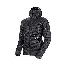 Mammut Herren Broad Peak Hooded Daunen-Jacke mit Kapuze, Black-Phantom, M