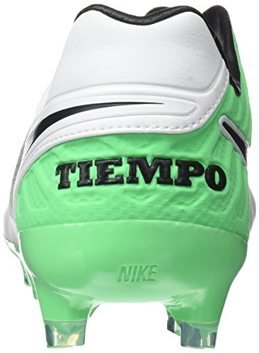 Nike Tiempo Legacy Ii, Chaussures de Football Entrainement Homme Blanc (White/Black-Electro Green)