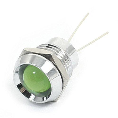 DC2.7V incasso LED segnale indicatore Pilot lampada 12mm, colore: verde - Segnale Indicatore