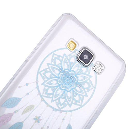 Galaxy A5 2015 Soft Silicone Tpu Coque Mode,Transparent Coque pour Samsung Galaxy A5 2015,Ekakashop Ultra Mince Jolie éléphant Design Souple imprimée Etui Housse de protection Cristal Clair Gel Case P Bleu Campanula