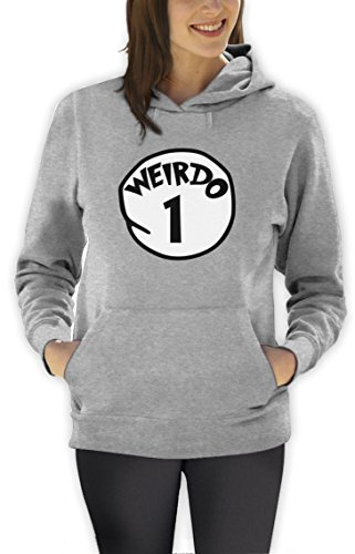 Weirdo 1 Kostüm Frauen Grau X-Large Kapuzenpullover Hoodie