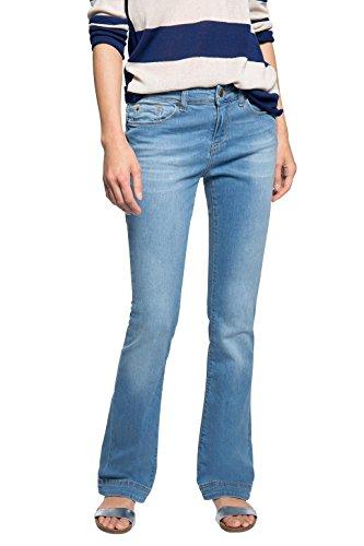 ESPRIT Damen Boot-Cut Jeanshose mit schöner Waschung, Gr. W29/L32, Blau (BLUE MEDIUM WASH 902)