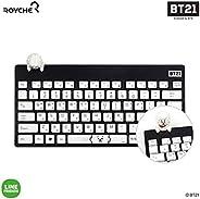BT21 Official Figure Wireless Keyboard by Royche (White(RJ))