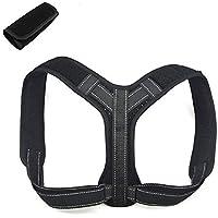 2-In-1-Körperhaltung-Korrektor Verstellbarer Stützgurt Für Den Oberen Rücken Mit Reflektierenden Streifen Abnehmbarer Weicher Kissen-Nackenschultern Und Rückenschmerzen,L